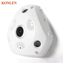 HD WiFi Panoramic IP Camera 3MP 360 Degree Fisheye Network CCTV Security Kamera Video Storage Remote IR-CUT Two Way Audio KONLEN