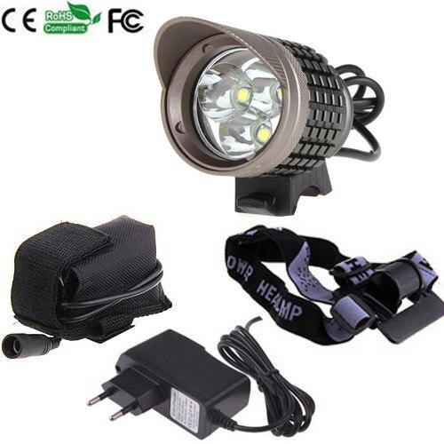 4 Modes CREE XM-L T6 LED 3800Lm  Head light Bicycle light Camping Headlamp Flashlight + 1 x8.4v 6400MAH battery +Charger<br><br>Aliexpress