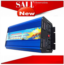fast free shipping off-grid single-phase Pure sine wave inverter 3000w 3kw inverter 12v 220v 3000w invertitore puro