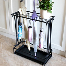 Creative umbrella stand hotel lobby iron umbrella barrel household instorage barrels floor type umbrella rack