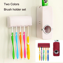 Toothpaste Dispenser tooth brush holder Bathroom Automatic Toothbrush Suction Hook Holder Wall Mount Auto Toothpaste Dispenser