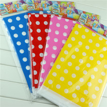 180*108cm Plastic Table Cloth Polka Dot Table Cover Waterproof Disposable Tablecloth Birthday Decoration Party Wedding Home 1pcs