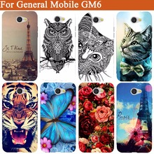General Mobile GM 6 Case Cover Cool Tiger Owl Rose Pattern Painted Soft Tpu Case for General Mobile GM6 Protective Phone Bags