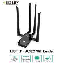 EDUP EP-AC1621 WiFi Dongle USB 3.0 Adapter 1900M 2.4 / 5.8GHz Network Portable Router(China)