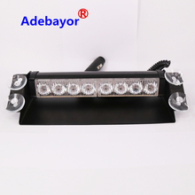 Wholesale High Power 8 LED Dash Strobe Fog Flash Emergency Warning Lights Vehicle Truck Strobe Grill Light red and  blue