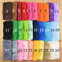 7cm Girl Tutu Tube Tops Chest Wrap Wide Elastic Crochet headbands Candy Color Headband Elastic Bands DIY Hair Accessories