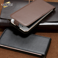 KISSCASE Retro Flip Leather Case for iPhone 6 6s Plus 7 7 Plus 5 SE 5s Case Cover Vintage Genuine Real Leather Phone Cases Coque