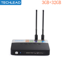 2pcs/lot DHL Android 7.1 TV box 3G 32G 8 octa core S912 dual band wifi network set top box smart media player 4K BT4.0 HD Dlan