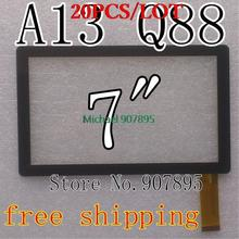 "20pcS Minimum $3 7"" capacitive touch screen with Glass Digitizer for 7inch Allwinner A13 Q88 MID tablet pc SX-Q8-Fpc"