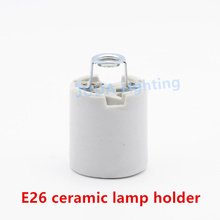 E26 / E27 screw cap lampholder high temperature ceramic lamp base for chandeliers wall lamps led pendant light lighting fittings(China)