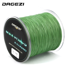DAGEZI 8 strand braid fishing line Rope 300m Super Strong smoother 100% PE Braided Multifilament fishing lines with box