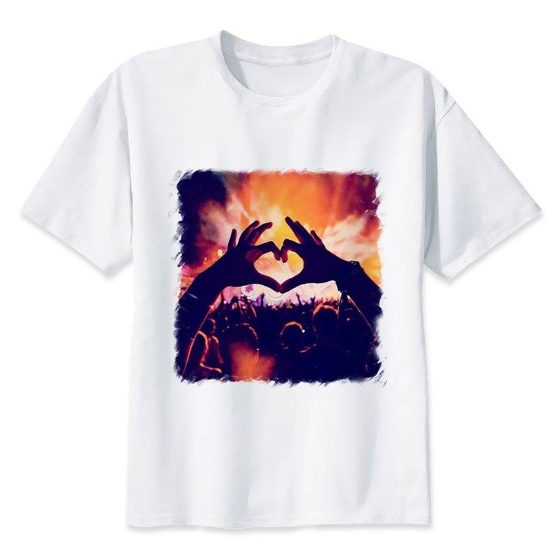 Tomorrowland tshirt Male Lollapalooza music festival essential t-shirt New Casual Men's T Shirt Hip Hop Tees MR863