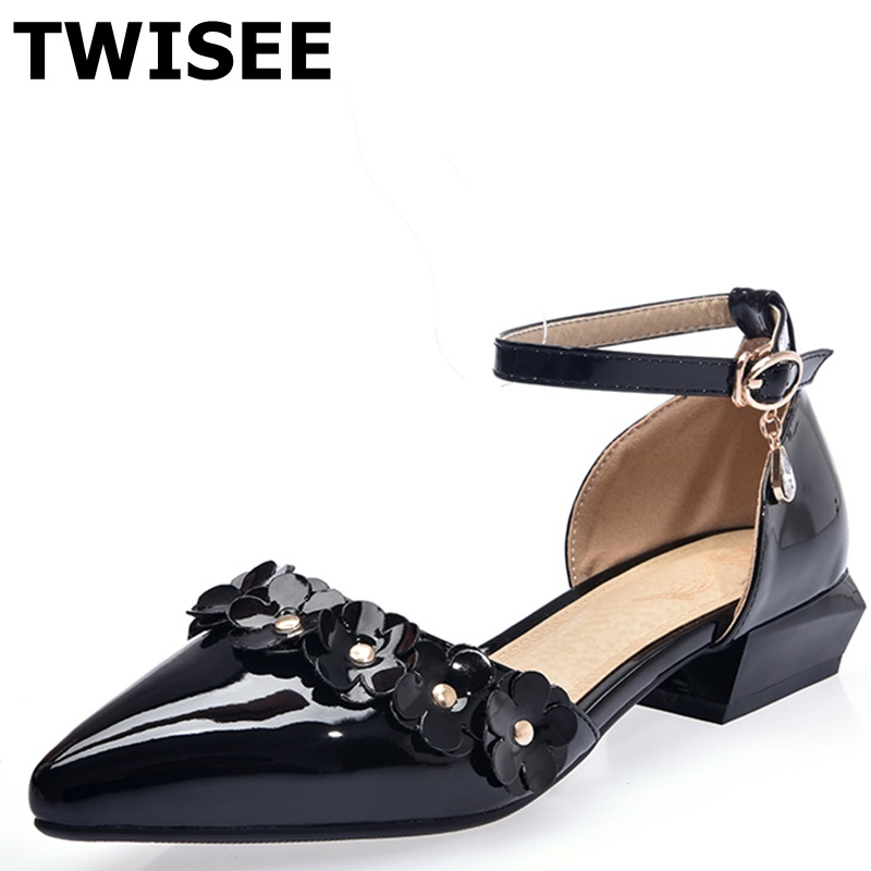 low heels 3 cm sapatos femininos high heels shoes woman Pointed Toe Comfortable spring pumps pu leather woman casual shoes<br><br>Aliexpress