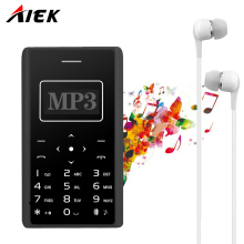 2017 Ultra Thin Card Mobile Phone 4.8mm AIEK/AEKU X7  Low Radiation mini pocket students personality children phone PK  X6 M5