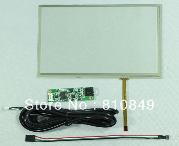 8inch 4-wire Resistive touch panel 192mm*116mm with USB controller card<br><br>Aliexpress