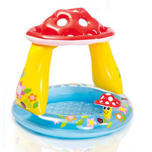 High quality children's mushroom round covered baby pool inflatable raft outdoor swimming pool xx121(China)