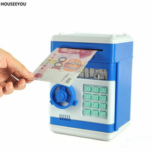 New Piggy Bank Mini Atm Money Box Safety Electronic Password Chewing Coins Cash Deposit Financial Management Machine for Kids(China)