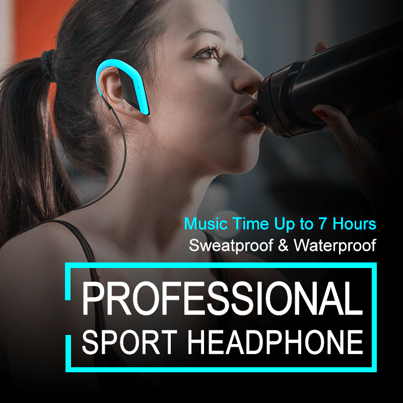 2017 Sport Headphones Waterproof Bluetooth Headset Wireless Earphones with Microphone Noise Cancelling Earbuds for Xiaomi iPhone<br><br>Aliexpress