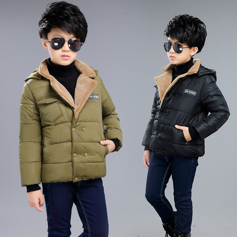 Free Shipping Boy Autumn Winter Long Style Solid Warm Down Coat Letter Hooded Parkas Thick Children Overcoat Three Color ClothesОдежда и ак�е��уары<br><br><br>Aliexpress