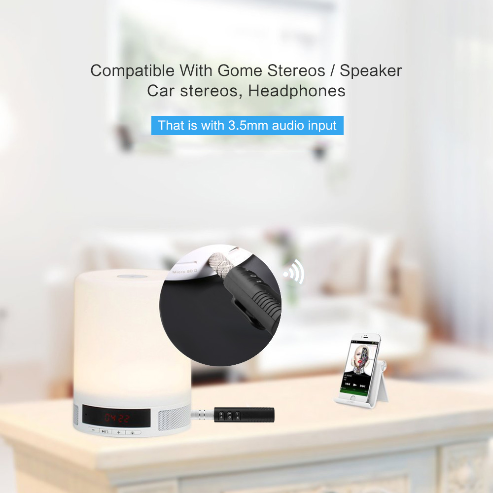 Bluetooth Earphone HandsFree Wireless Bluetooth Receiver Adapter 3.5mm Jack Car Aux Audio Music for Phones Speakers Headphones (4)