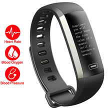 Updated HR Smart Wristband 50 Words/Blood Pressure Oxygen/Heart Rate Monitor Wearable Devices PK Fitbits/Xiomi mi band 2/Vivo 3(China)