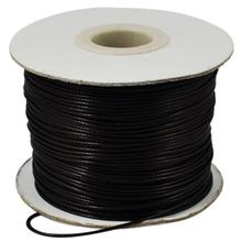Waxed Polyester Cord, Bead Cord, Black, 0.5mm, about 185yards/roll