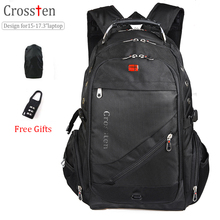 Crossten Swiss Military Army Travel Bags Laptop Backpack 15.6 inch 17 Multifunctional Schoolbag Waterproof Notebook Computer bag - crossten A+ Store store