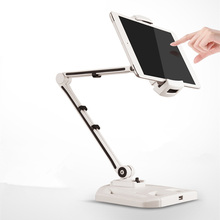 Folding Tablet Stand Sturdy Aluminum Free Rotating Adjustable Tablet Holder for iPad Air Mini Base with USB Port Easy to Charge(China)
