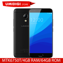 Global Version UMIDIGI C2 Android Mobile Phone MTK6750T Octa-core 4GB RAM 64GB ROM 5.0 inch 4G Mobile Phone Front Touch ID