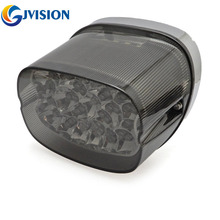 1pcs Running LED Brake Tail Light For Harley Davidson Sportster XL 883 1200 Dyna (Smoke)(China)
