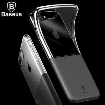 Teléfono baseus case para iphone 7 plus 4.7/5.5 pulgadas de material de doble doble estilo concha protectora tpu dura de la pc durable