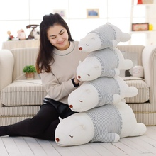 1pc 50-80cm Huge Size Lovely Polar Bear Plush Toys Stuffed Soft Animal Nap Pillow Cushion Creative Decoration Doll Gift for Girl
