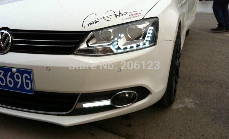 High quality LED Daytime running lights front Fog lamp Fog Lights For 2012 Volkswagen VW Jetta/Sagitar<br><br>Aliexpress