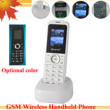 GSM wireless phone Russian English GSM Cordless Support SIM Card With SMS Backlight LCD Screen For Home White 2PCS/LOT(China)