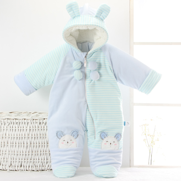 Fashion baby snow wear winter coat plus thick velvet newborn snow suit elephant  baby outwear snowsuit cotton clothing overalls<br><br>Aliexpress