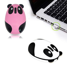 Cute Panda Pattern 2.4GHz Wireless Optical Computer Mouse USB Charging ABS Material Gaming Mice for Win/Mac/Linux/Andriod/IOS
