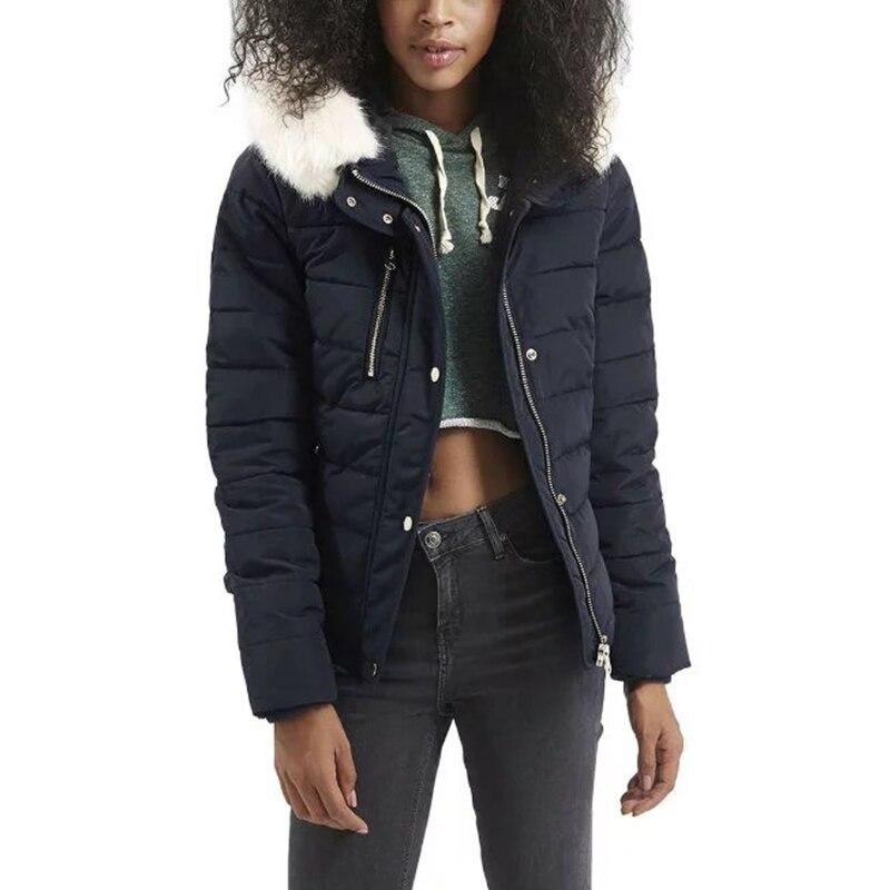 Fashion Winter Faux  Fur Hoodie Jackets Women Padded Coats Zipper Slim Long Sleeve Army Green Outerwear Plus Size DWDDОдежда и ак�е��уары<br><br><br>Aliexpress