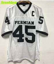 SexeMara 2017 Permian Movie Mens Cheap Friday Night Light American Football Jerseys #45 Boobie Miles Jersey Retro Stitched White