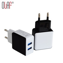 Olaf Dual USB 2.5A Quick Charge 2.0 EU Plug Travel USB Charger Wall Mobile Phone Charger For iPhone 5 6 7 Plus Samsung Xiaomi