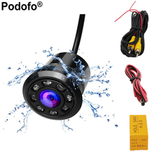 Podofo 18.5mm Car Backup Camera HD Color Reverse Rear View Cameras 8 LED Night Vision 170 Degree Mini Waterproof Color CCD Image(China)
