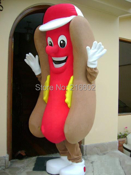cosplay costumes hotdog mascot costume adult size fancy dress cartoon character party outfit suit free shipping