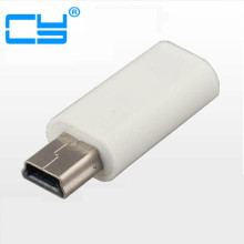 Mini Usb Male to Micro usb female adapter connector charging charger for smartphone MP4 mp5 psp 360 power bank