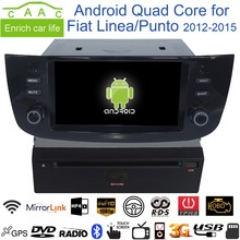 "Android 6.0.1 Quad Core GPS Navi Stereo 6.2"" Car DVD Player for Fiat Linea/Punto 2012-15 with Radio/Bluetooth/RDS/Canbus/4G/SWC"