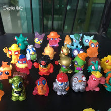 20pcs/lot Colorful cartoon anime action figure toy PVC soft garbage trash pack zombie cartoon anime action figure toy