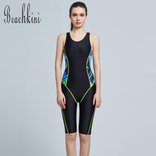 Buy 2017 Hot Sale Athletic Swimwear Long Leg Bodysuit Women 1 Piece Bathing Suit Boyshorts Swimsuit Sport Stars Beach Wear for $17.47 in AliExpress store
