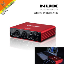 NUX UC-2 Mini Port USB XLR 6.35mm Input Output Audio Interface for Mic MIDI Instrument Recording Playback for WINDOWS & MAC PC