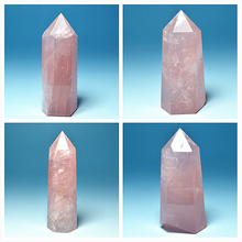 Natural pink crystal polished stone column of ore samples spiritual head teaching meditation crystal radiation therapy