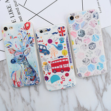 Annchep Brand NEW Cartoon Cute Pattern Fashion Style Case for iPhone 7, Luxury Protective Case Cover for iPhone 6 6s 7 Plus 5 5s