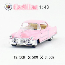 New Cool 1/43 Scale Classic 1953 Cadillac Series 62 Diecast Metal Pull Back Vintage Car Model Toy For Children/Gift/Collection(China)