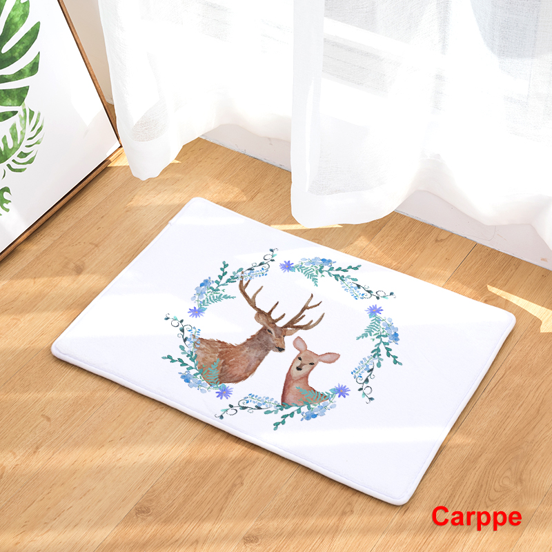 Flannel Floor Mats Nature Song Printed Bedroom Living Room Carpets ...